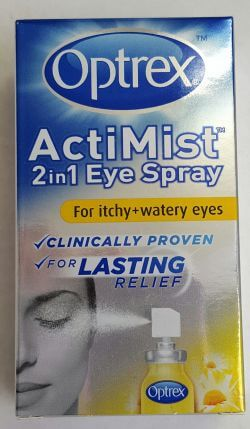 Optrex Actimist 2in1 Eye Spray Itchy Watery Eyes 10ml
