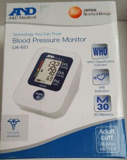 A&D Medical Blood Pressure Monitor UA-651
