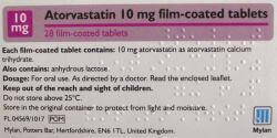 Atorvastatin 10mg 28 Tablets
