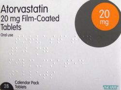 Atorvastatin 20mg 28 Tablets