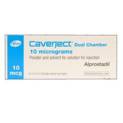 Caverject (Alprostadil) 10mcg/0.5ml Dual Chamber 2 Injections