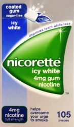 Nicorette Icy White 4mg Gum 105 Pieces