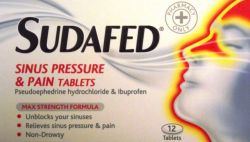 Sudafed Sinus Pressure & Pain 12 Tablets