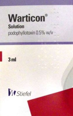 Warticon (Podophyllotoxin) 0.5% Solution 3ml