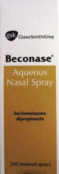 Beconase (Beclometasone) Aqueous Nasal Spray 200 Doses