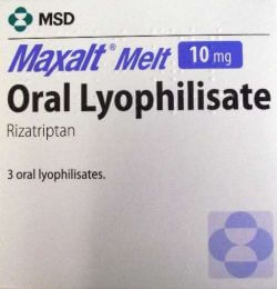 Maxalt (Rizatriptan) Melt 10mg 3 Tablets