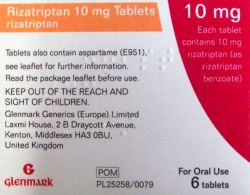 Rizatriptan 10mg 6 Tablets