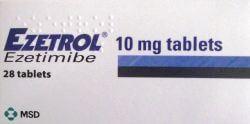 Ezetrol (Ezetimibe) 10mg 28 Tablets