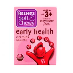 Bassetts Soft & Chewy Early Health Strawberry Flavour 30 Pastilles