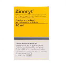 Zineryt (Erythromycin + Zinc Acetate) 40mg + 12mg Solution 90ml