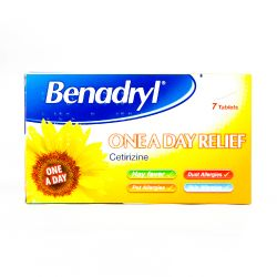 Benadryl One-A-Day Relief (Cetirizine) 7 Tablets