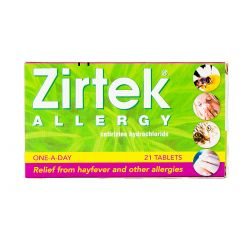 Zirtek Allergy Relief (Cetirizine) 21 Tablets