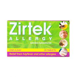 Zirtek Allergy Relief (Cetirizine) 30 Tablets