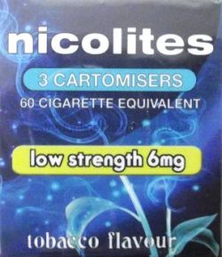 Nicolites 6mg 3 Cartomisers