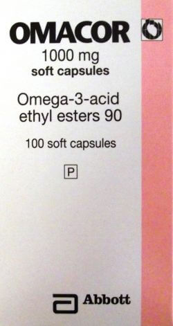 Omacor (Omega-3-Acid) 1000mg 100 Capsules