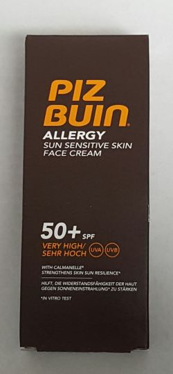Pizbuin Allergy Face Cream SPF50 50ml