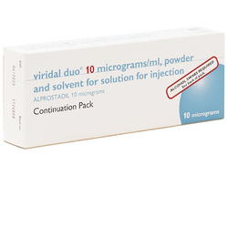 Viridal (Alprostadil) Duo 10mcg/ml 2 Injections Continuation Pack