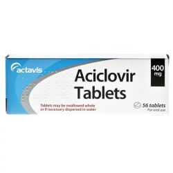 Aciclovir Dispersible 400mg For Herpes Suppression 56 Tablets