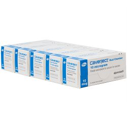 5 x Caverject (Alprostadil) 10mcg/0.5ml Dual Chamber 2 Injections