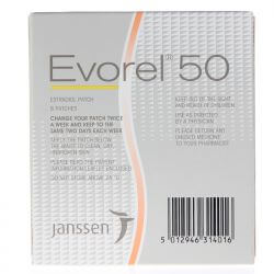 Evorel (Estradiol) 50mcg Patches 8