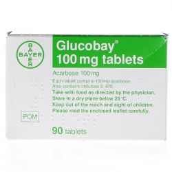 Glucobay (Acarbose) 100mg 90 Tablets