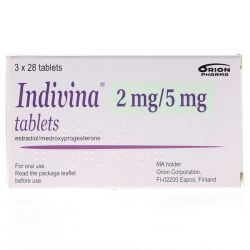Indivina (Estradiol/Medroxyprogesterone) 2mg Tablets 84