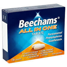 Beechams All-In-One Non Drowsy tabs 16's