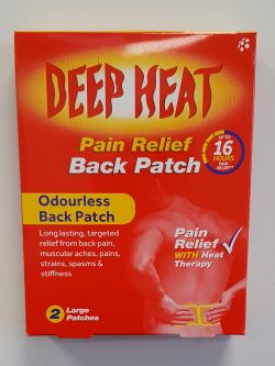 Deep Heat Pain Relief Back Patch 2 Patches