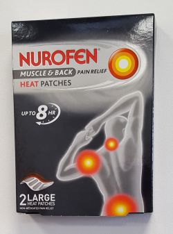 Nurofen Muscle & Back Pain Relief Heat Patches 2 Large