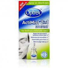Optrex Actimist 2in1 Eye Spray Tired Uncomfortable Eyes 10ml