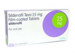 Sildenafil 25mg 4 Tablets