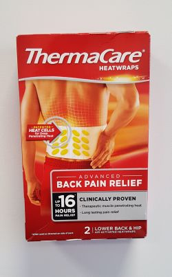 Thermacare Heatwraps Lower Back & Hip 2 Wraps