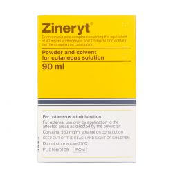 Zineryt (Erythromycin + Zinc Acetate) 40mg + 12mg 90ml Solution