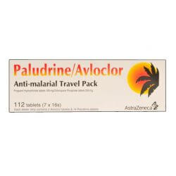 Paludrine/Avloclor 100mg/250mg Anti-Malarial Travel Pack 112 Tablets