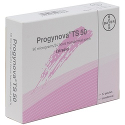 Progynova TS 50 (Estradiol) 3.9mg Patches 12