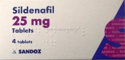 Sildenafil (Sandoz) 25mg 4 Tablets