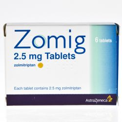 Zomig (Zolmitriptan) 2.5mg 6 Tablets